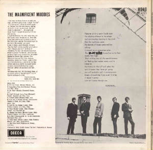 The Magnificant Moodies  1965 - back cover