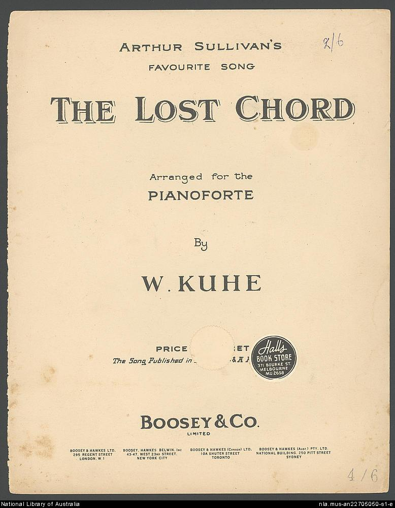 The Original Lost Chord